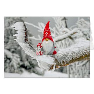 Warm Wishes Santa Christmas Greeting Card