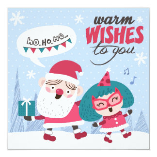 Warm Wishes To You 13 Cm X 13 Cm Square Invitation Card
