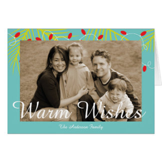 Warm Wishes Tropical Family Photo Cards