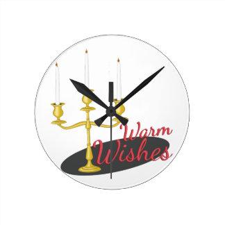 Warm Wishes Wall Clocks