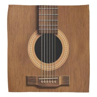 Warm Wood Acoustic Guitar Bandana