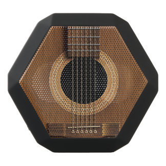 Warm Wood Acoustic Guitar Black Bluetooth Speaker