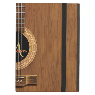 Warm Wood Acoustic Guitar Case For iPad Air