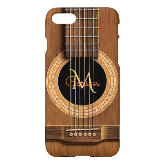 Warm Wood Acoustic Guitar iPhone 7 Case