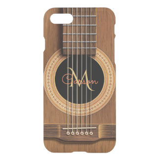 Warm Wood Acoustic Guitar iPhone 8/7 Case