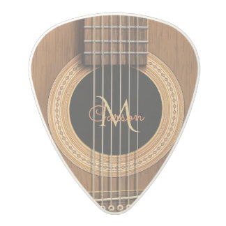 Warm Wood Acoustic Guitar Polycarbonate Guitar Pick