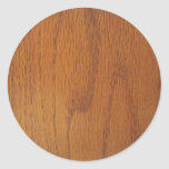 Warm Wood Grain Texture Round Sticker