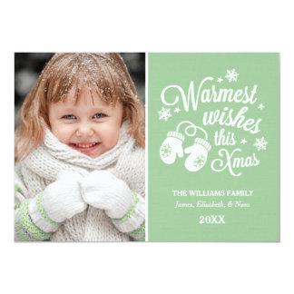 Warmest Wishes   Christmas Photo Card 13 Cm X 18 Cm Invitation Card