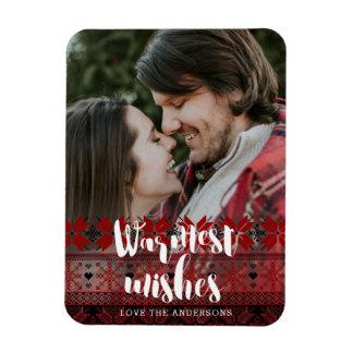 Warmest Wishes Fair Isle Pattern Magnet