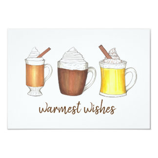 Warmest Wishes Hot Cocoa Buttered Rum Eggnog Card