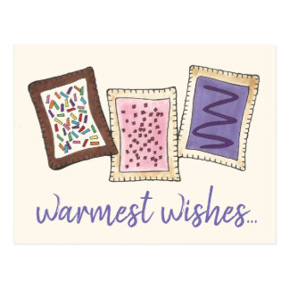 Warmest Wishes Warm Toaster Breakfast Pastries Postcard