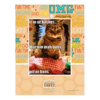 Warmin mah buns postcard