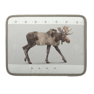 'Warmly Clothed Moose' Sleeve For MacBook Pro