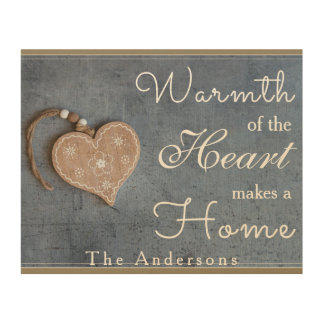 Warmth of the Heat Makes a Home Wood Wall Plaque Wood Print