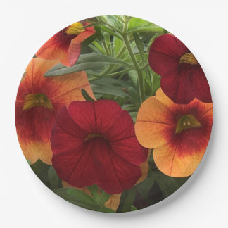 Warmth Of The Sun Floral Paper Plate