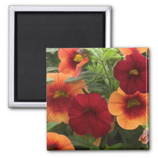 Warmth Of The Sun Floral Square Magnet