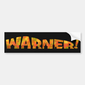Warner - Fall Design Bumper Sticker