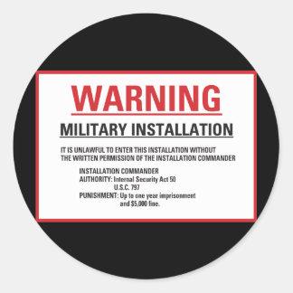 Warning Area 51 Military Installation Round Sticker