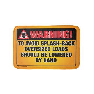 WARNING - Avoid Splash-Back Bathroom Mat Bath Mats