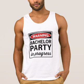 Warning Bachelor Party Singlet