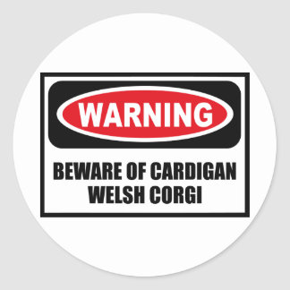 Warning BEWARE OF CARDIGAN WELSH CORGI Sticker