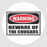 Warning BEWARE OF THE COUGARS Sticker