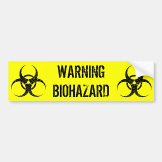 Warning Biohazard Bumper Sticker