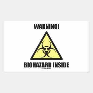 Warning! Biohazard Inside (Signage Humor) Rectangle Stickers