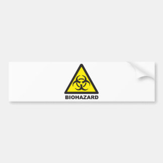 Warning Biohazard Sign Bumper Sticker