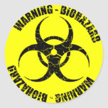 Warning Biohazard Sticker