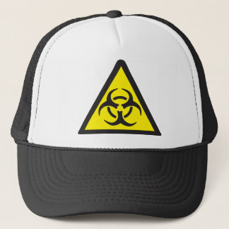 Warning Biohazard Symbol Trucker Hat