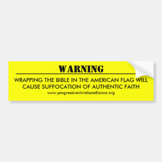 """Warning"" Bumper Sticker"
