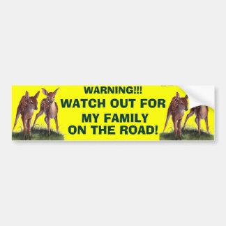 WARNING!! Bumper Sticker