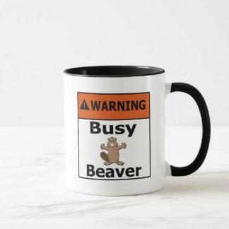 Warning Busy Beaver Mug