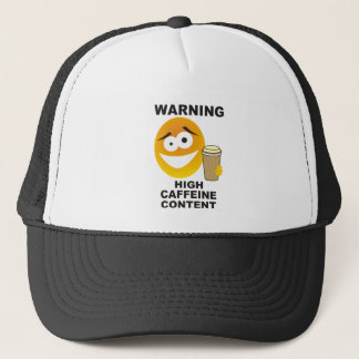 warning caffeine trucker hat
