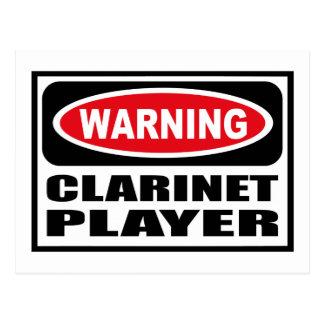 Warning CLARINET PLAYER Postcard
