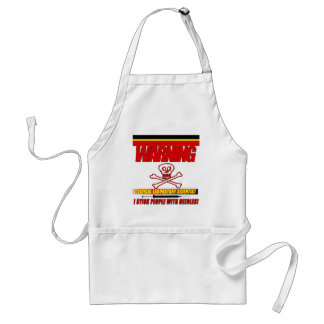 WARNING CLINICAL LAB SCIENTIST STICK  WITH NEEDLES STANDARD APRON