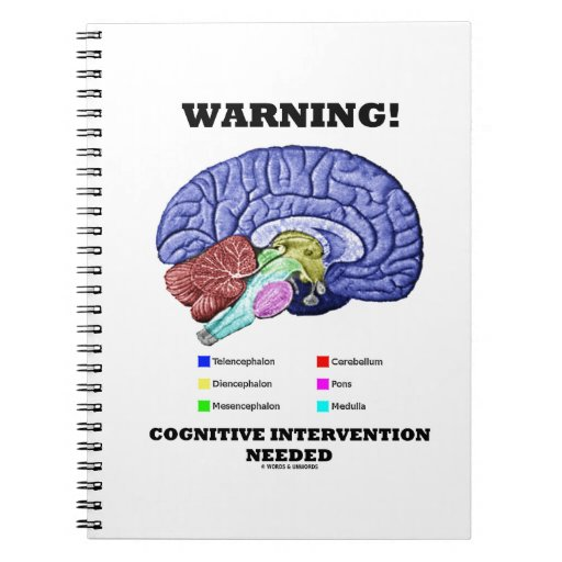 Warning! Cognitive Intervention Needed Spiral Notebook