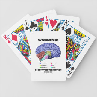 Warning! Cognitive Intervention Needed Bicycle Card Deck