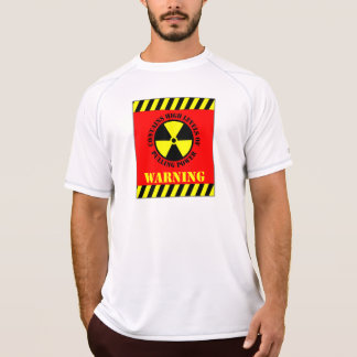 Warning Contains High Levels Of Pulling Power Red T-Shirt