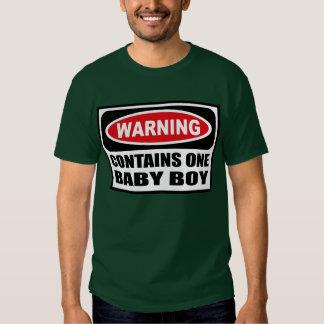 Warning CONTAINS ONE BABY BOY Men's Dark T-Shirt