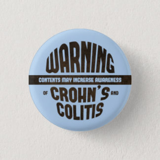 Warning! Contents May Increase Awareness - Blue 3 Cm Round Badge