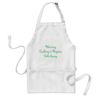 WARNING COOKING IN PROGRESS STANDARD APRON