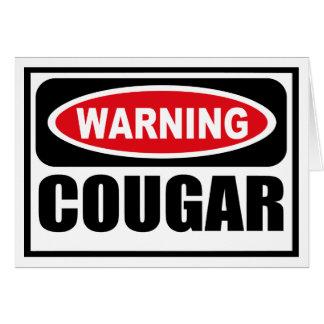 Warning COUGAR Greeting Card