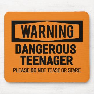Warning Dangerous Teenager Mousepad