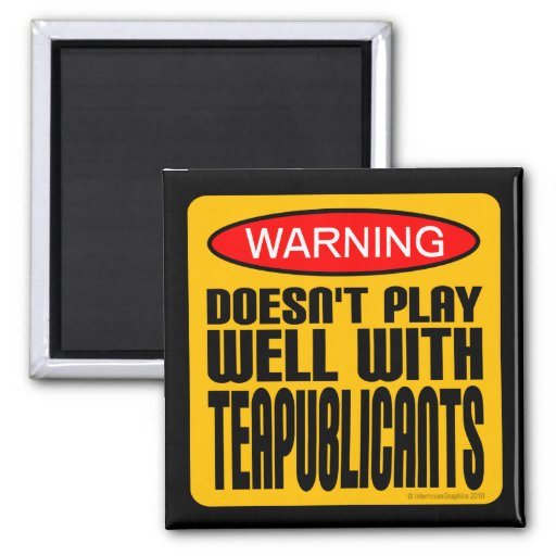 Warning: Doesn't Play Well With Teapublicants Magnet