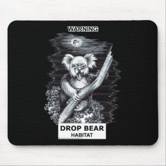 Warning: Drop Bear Habitat Mouse Pad