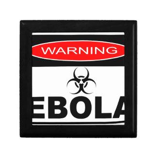 WARNING EBOLA GIFT BOX