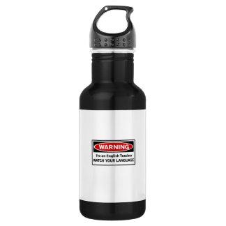 Warning English Teacher 532 Ml Water Bottle