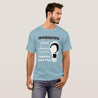 Warning Experiment In Progress Funny Science T-Shirt